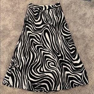 Zebra Maxi Skirt